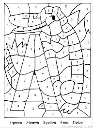 Number Coloring Pages 1 20 Pdf Alligator Color By Numbers Page Free