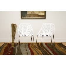 100 Birch Dining Chairs Sapling White Plastic Accent Chair See White