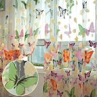 miixia gardine vorhang schmetterling kinderzimmer wohnzimmer fenster vorhang deko