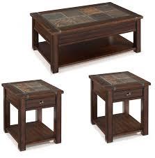 Magnussen Home Roanoke Cherry 3pc Coffee Table Set