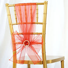 10 Burnt Orange Sheer Organza CHAIR SASHES Ties Bows Wedding Party ... Coral Fantasia Sheer Chiavari Chair Covers Cantley House Hotel Ivory Seat Pad Beau Events Gallery Of Cover Off White Amazoncom With Pink Roses Kitchen Ding Silver Ruched Over Specialty Linen Blog Chairs Flair A Vision Elegance Event Rentals Linenchair Ruffled Bridal Arcadia Designs White Organza Chair Sash Wedding Sashes Eggplant Sheer Wedding Decor 20pcs Yhc179 Pleats Curly Polyester Banquet