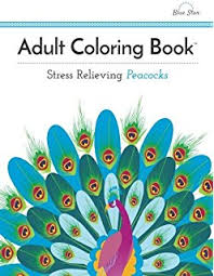 Adult Coloring Book Stress Relieving Peacocks