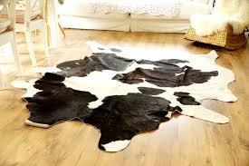 ikea echtes kuhfell 230x165 teppich landhaus weiß schwarz asymetrisch vintage