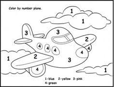 Color By Number Plane Worksheet