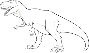 Coloring Page Dinosaur Free Printable Pages For Kids To Print