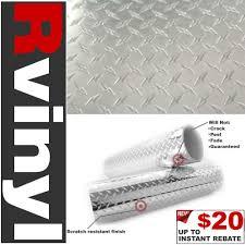 100 Diamond Plate Truck Bed Pro 24x12 Vinyl Film Rail Wrap For Sierra