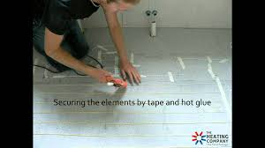Suntouch Heated Floor Not Working by Under Tile Heating Installation Youtube