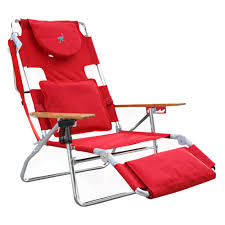 Ostrich Deluxe 3 In 1 Face Down Beach Chair Red - Deltess ...