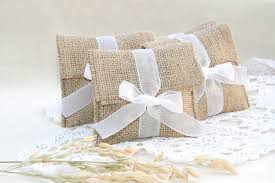 Burlap Favor Bags Rustic Wedding Favors