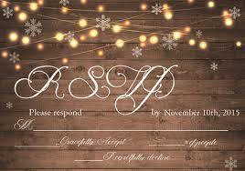 Rustic Stringlight Snowflake Winter Wedding Invitation EWI410 4