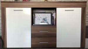 kommode wohnzimmer braun weiß reduziert