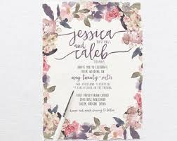 Romantic Garden Wedding Invitation Suite DEPOSIT