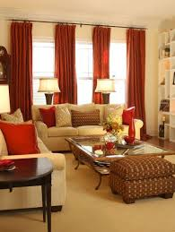 red and gold living room using gold in interior design