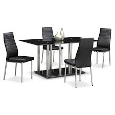 Value City Furniture Kitchen Chairs by Artfully Industrial The Modern Stratus Dining Collection Is