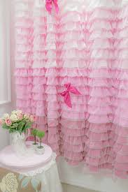 Pink And Purple Ruffle Curtains by Ruffle Curtain