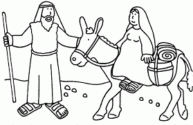 Christmas Sunday School Bible Coloring Pages