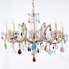 Astounding Funky Chandelier Modern Chandeliers For Dining Room White Background Colorful Light Hinging