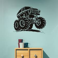 100 Monster Truck Wall Decals Creative Vinyl Adhesive Art Paper Large Size Funny