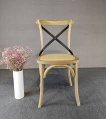 Natural Cross Back Solid Oak Dining Chair