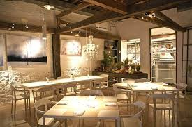 Interior Design Chic Country Restaurant Decorating Ideas With Exposed Rustic Wooden Post And Beams Featuring