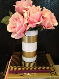 White Gold Vase Spray Paint Dry Tape And Chic