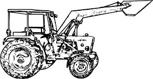 Coloriage Tracteur En Tribu En Tribu