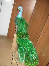 Craft Items From Waste Material For Kids How To Make Beautiful Peacock Design With Plastic Bottles
