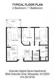 3 Bedroom Apartments Milwaukee Wi by Granville Heights Senior Apartments Milwaukee Wi