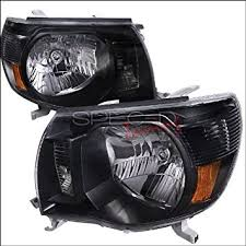 toyota tacoma 2005 2006 2007 headlights black