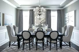 Transitional Dining Room Grey Color Palette Traditional With Chairs