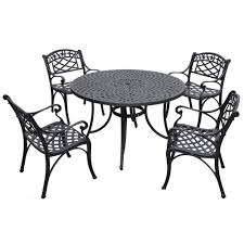 Cast Aluminum Patio Furniture With Sunbrella Cushions by Black Outdoor And Patio Furniture Bellacor