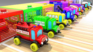 100 Fire Truck Parking Games Learn Street Vehicles Names For Children With Toy Vehicles