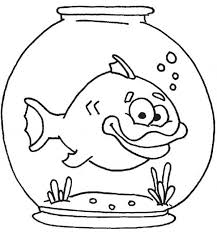 Fish Bowl Thick Lip In Coloring Page