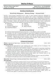 Marketing Director Resume Examples Manager Summary Brand General Sample Pdf