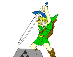 Colored Page Young Link Painted By