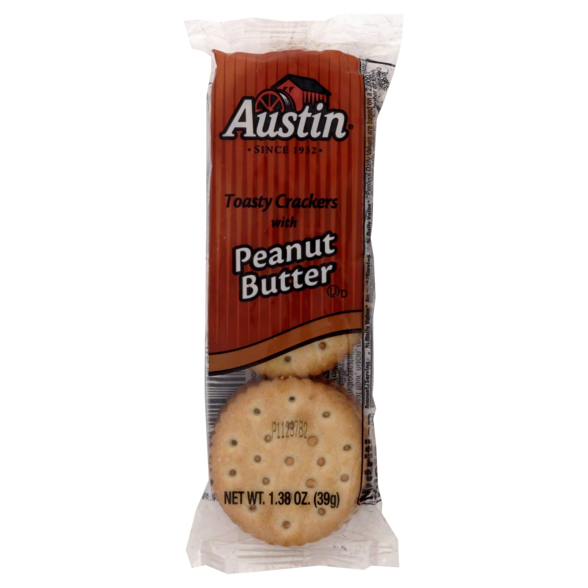 Austin Toasty Crackers with Peanut Butter - 1.38oz