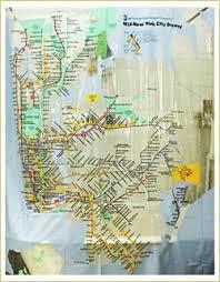 NYC Subway Map Vinyl Shower Curtain – Delphinium Home