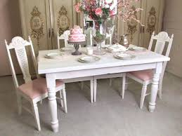 Shabby Chic Dining Room by Dining Table Shabby Chic Extending Dining Table And 6 Chairs
