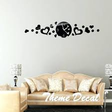 Diy Bedroom Wall Art Tumblr Black Mirror Clocks Love Hearts Decor