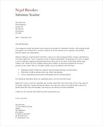 Cover Letter For Substitute Teacher Cover Letters For Teachers Long