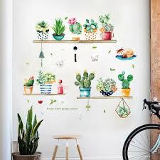 pflanzen wandtattoo wandsticker wandaufkleber kaktus