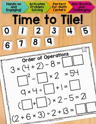 with order of operations thrive