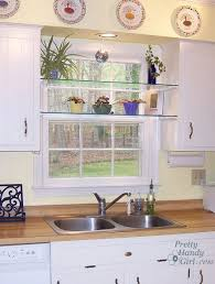 Plants For Bathroom Without Windows by Diy Glass Shelves In Front Of Kitchen Window Glass Shelves