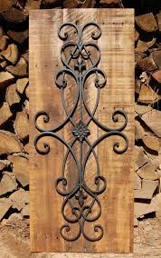 Wrought Iron Plays A Large Role When Accessorizing Spanish Colonial Home Decorative Rustic Scroll Wall Art By LooneyBinTradingCo On Etsy