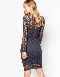 body frock ella lace dress in grey in blue lyst