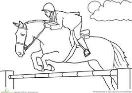 Color The Jumping Horse