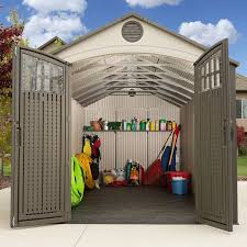 Lifetime 8 ft W x 20 ft D Plastic Storage Shed & Reviews