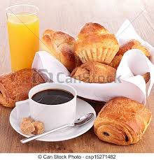 Free Breakfast Clipart Black And White Image