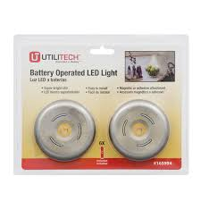 zoomed sylvania 2 pack battery cabinet led puck light kit 25
