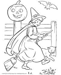 Halloween Witch Coloring Pages